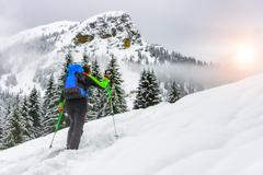 ski mountaineering - stock photo