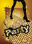 party background - stock illustration