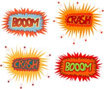 Boom crash - stock illustration