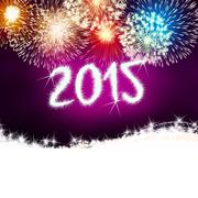 firework 2015 happy new year - stock illustration