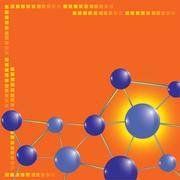 molecule technology background, vector illustration - stock illustration