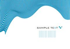 dots mosaic wavy texture with space for text, vector illustration - stock illustration
