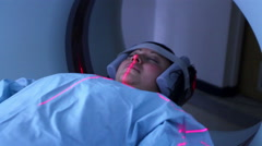 Mexico, 2014: MEDIUM SHOT. Woman in a PET-CT. - stock footage