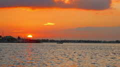 Florida Sunset Left Stock Footage
