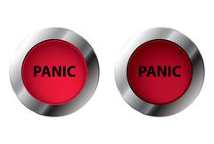 Shiny panic button on and off, vector illustration Piirros