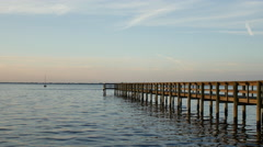 Dock on the Gulf. Stock Footage
