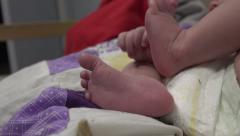 Newborn Baby Feet Stock Footage