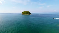 Aerial shot of the island in Thailand. Stock Footage