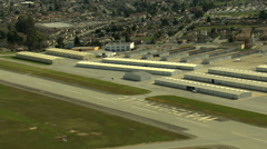 Aerial Watsonville Airport California Pacific ocean USA - stock footage