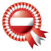 Stock Illustration of Austria detailed silk rosette flag, eps10 vector illustration