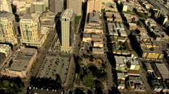 Aerial California USA Oakland Federal Building USA Stock Footage