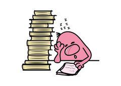 Roundy cartoon character sleeping at the classroom, vector illustration Stock Illustration