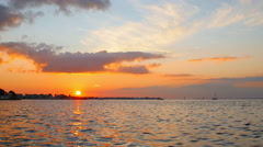 Sunset on the Gulf Stock Footage