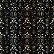 Seamless golden floral pattern, vector illustration Stock Illustration