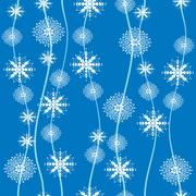 snowflakes seamless abstract winter background or wrapper, vector illustration - stock illustration