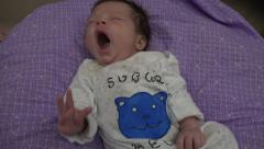 Newborn Baby Biggest Yarn Ever Stock Footage