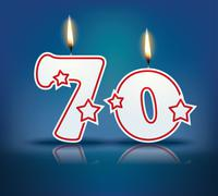Birthday candle number 70 Stock Illustration
