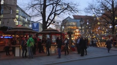 Christmas market in munich Stock Footage