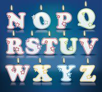 Stock Illustration of candle letters from n to z
