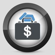 Money handbag Stock Illustration