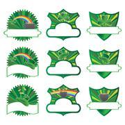 saint patrick's labels collection, vector illustration - stock illustration