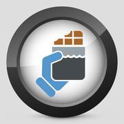 Snack icon - stock illustration