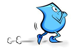 Cartoon character - blinky -running and unhappy, vector illustration Stock Illustration