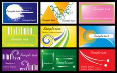 business cards set vector illustration - easy to change. eps file is print ready - stock illustration