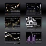 Stock Illustration of black business cards vector illustration - easy to change. eps is print ready an