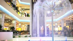 Novosibirsk. Russia. 11 DECEMBER 2014.  Shopping center decorated with christmas Stock Footage