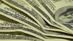Several banknote to $100. Close-up. Rotation Stock Footage