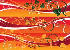 Vine floral  Background Web Banners set, vector illustration - stock illustration