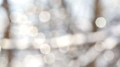 Winter White Bokeh Circles Stock Footage