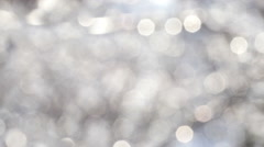 Stock Video Footage of Winter White Bokeh Circles