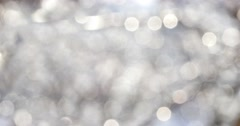 Winter White Bokeh Circles 4k - stock footage