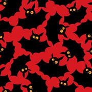 Halloween bats pattern - stock illustration