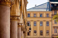 Stock Photo of town market square sukiennice in krakow