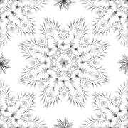 Seamless floral abstract design Stock Illustration