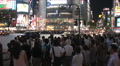 Tokyo Shibuya Crossing. Famous intersection outside Shibuya Station. Japan Footage