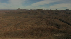 Aerial Baja California USA barren arid desert nature adventure - stock footage