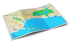 City map - stock illustration
