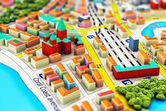 Miniature city Stock Illustration