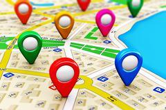 GPS navigation concept Piirros