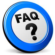 faq icon - stock illustration