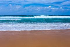 Atlantic ocean beach, portugal Stock Photos