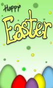 Happy easter eggs Stock Photos