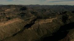 Aerials Baja California USA desert Sur cactus travel Stock Footage