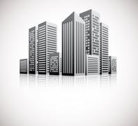 Cityscape background Stock Illustration