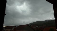 Bad weather, thunder storm Stock Footage