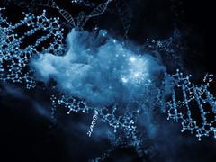 Advance of DNA - stock illustration